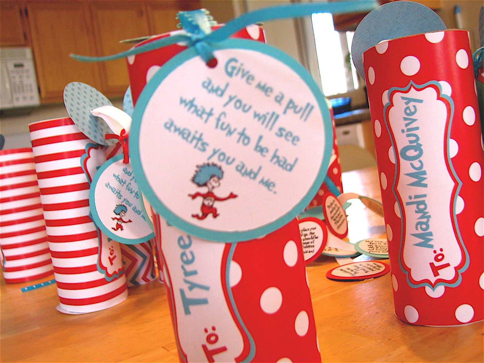 Dr Seuss Baby Shower Ideas   designed water bottle labels and added ...