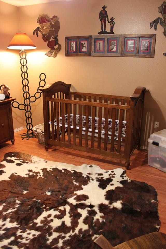 That Lamp And My Child Will Obvi Have A Cowhide Rug In