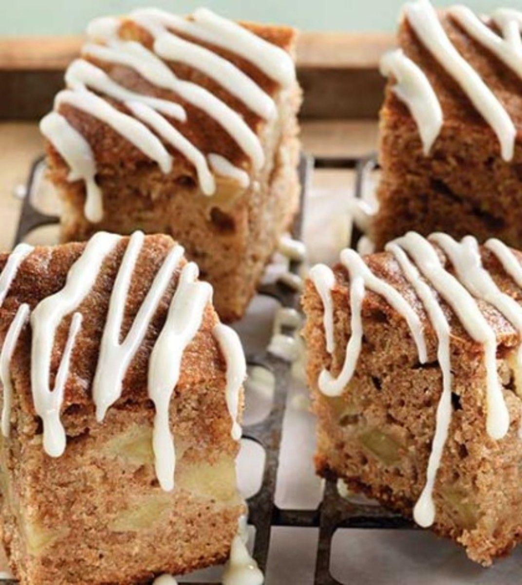 Apple Cinnamon Coffee Cake with Cream Cheese Glaze