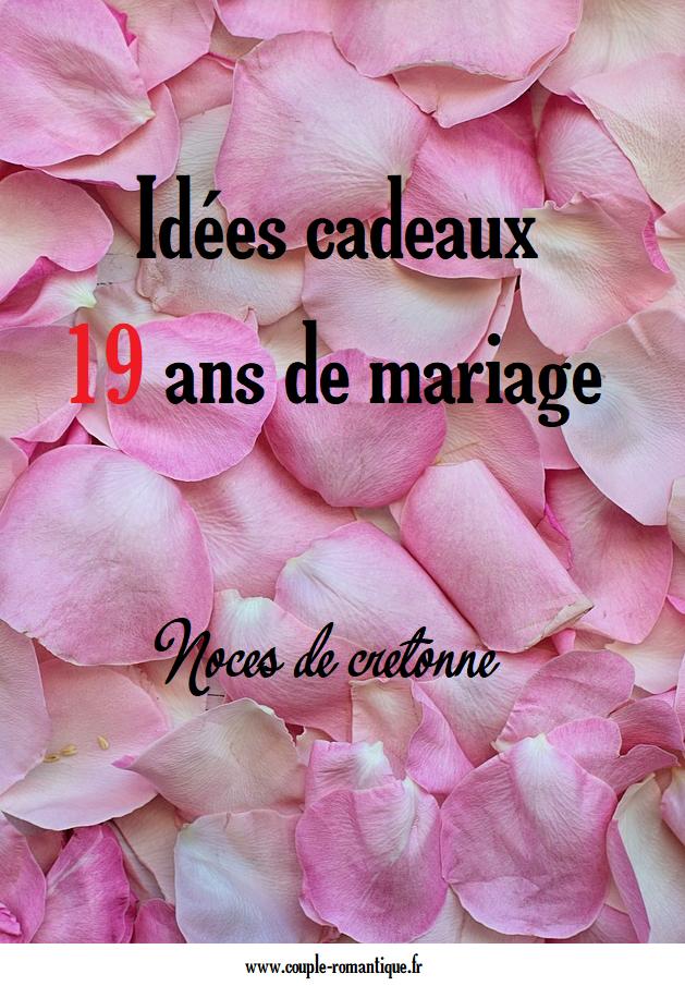 Trouvez Une Idée De Cadeau Pour 19 Ans De Mariage Diy