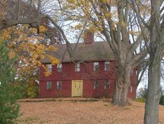 Posted in Colonial , Houses ,The Willard Homestead, Newington, Connecticut c 1700's (This beautiful colonial still has the original front doors!)