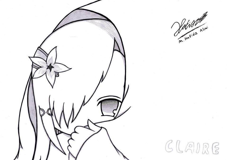 Her Name Is Claire She Older Twins With Clare Tsundere Cold Eyes