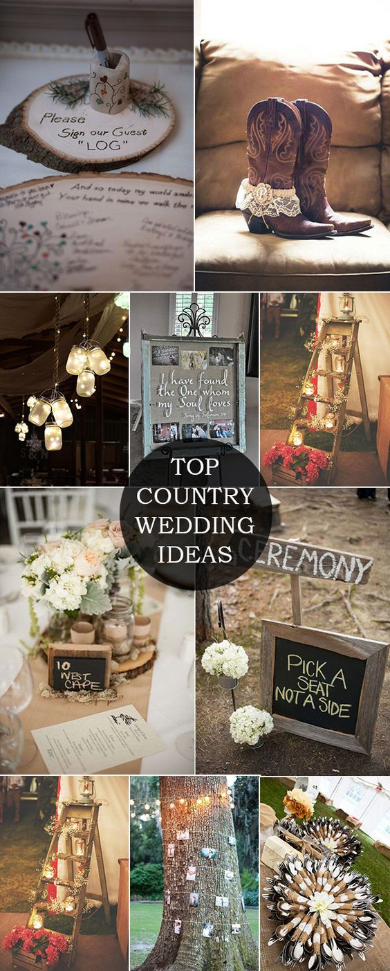 Wedding decorations country  Top  Country Wedding Ideas and Wedding Invitations for Fall