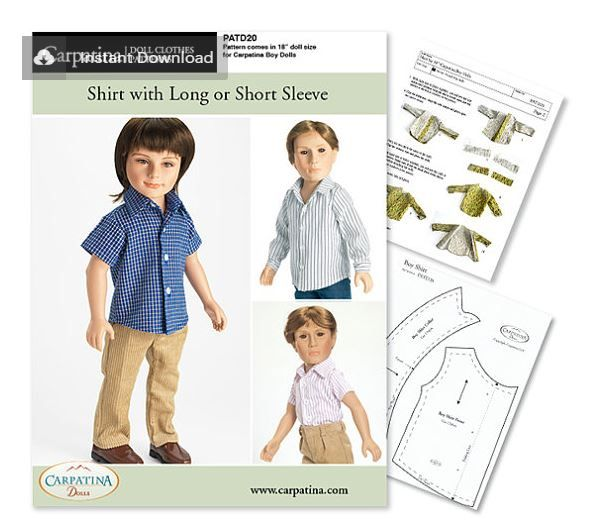 Downloadable dolls clothes patterns in UK for 18\