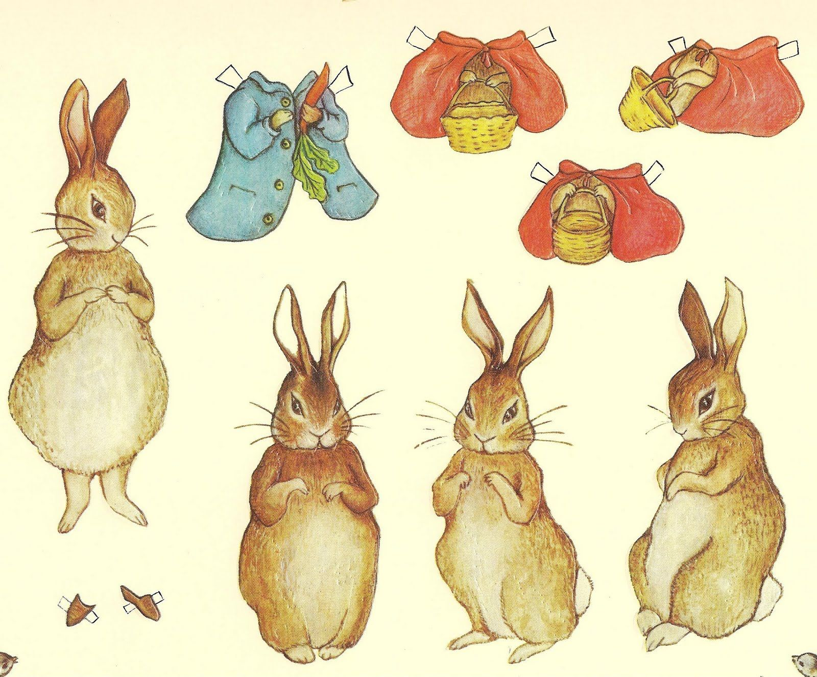 Mostly Paper Dolls: A RABBIT A DAY Peter Rabbit 02