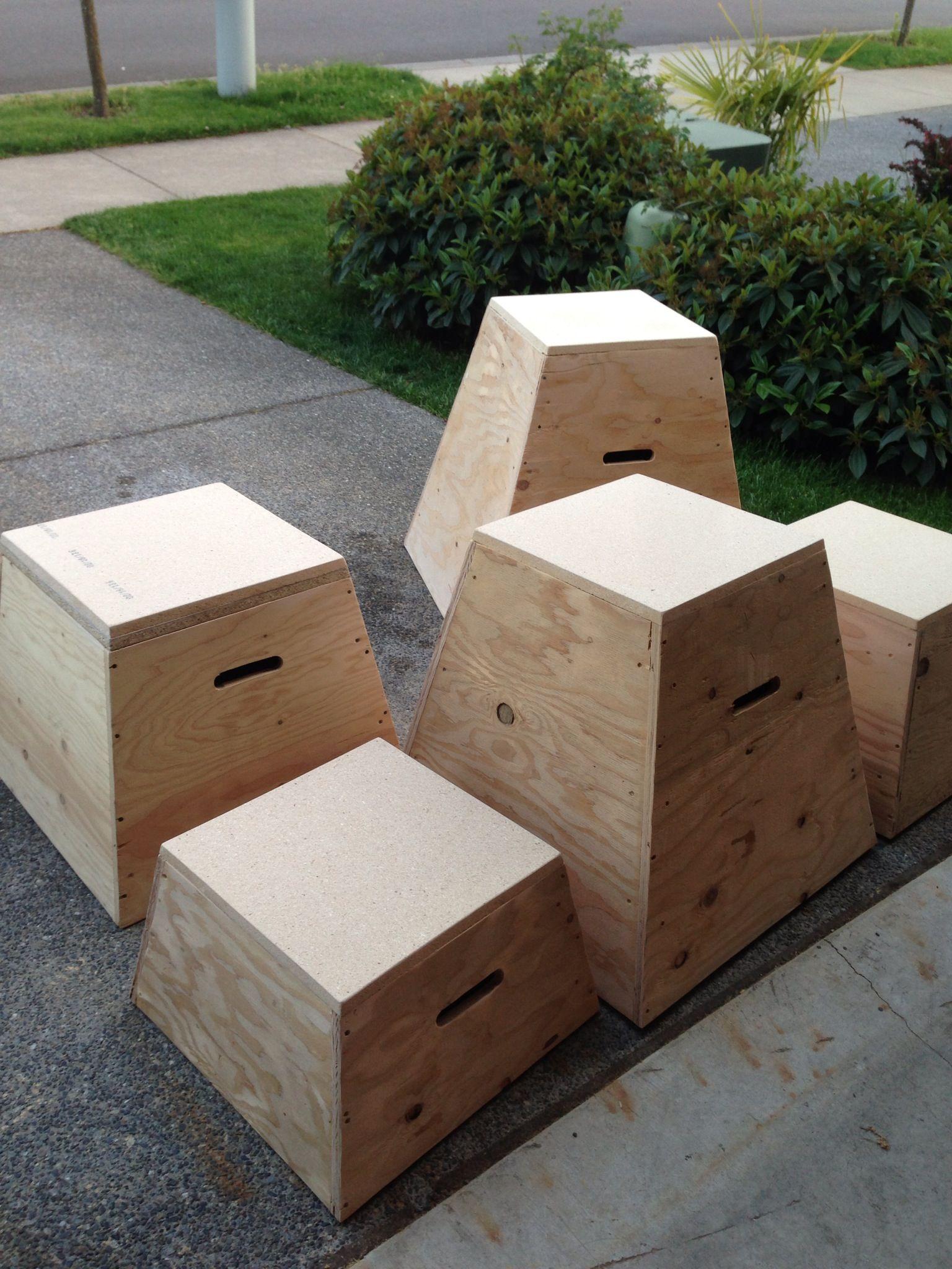 Plyo crossfit jump boxes diy home ideas at home gym diy home