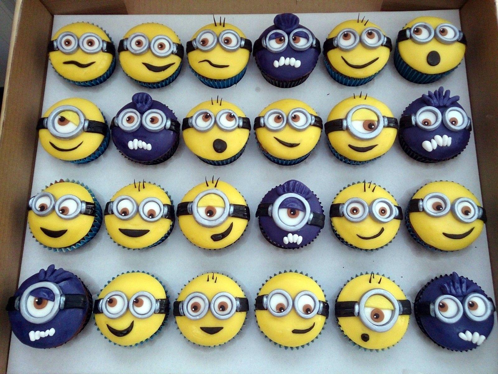 minion cupcakes   Minion Themed Cupcakes   Susie's Cakes