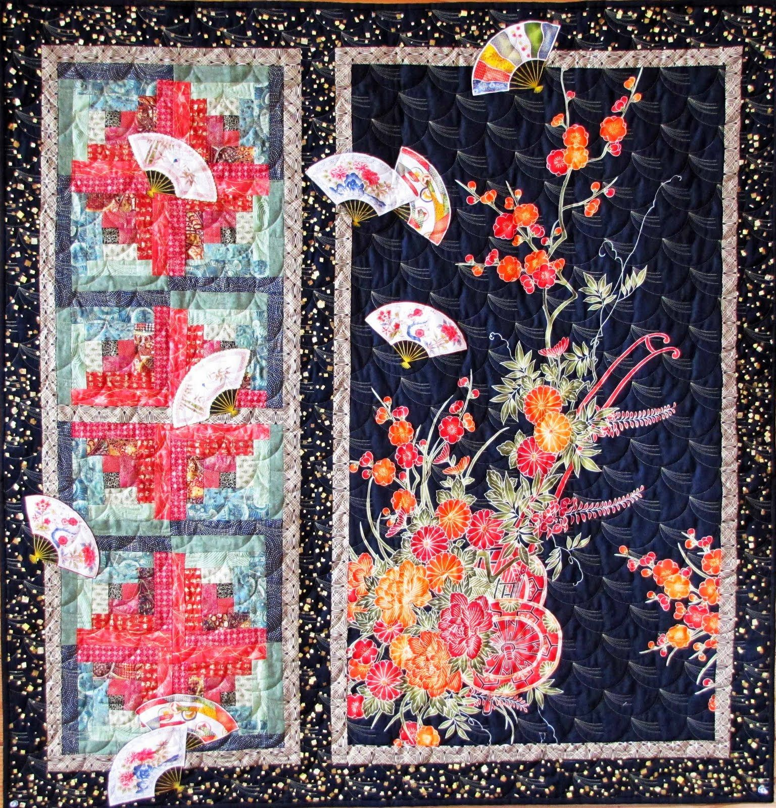 San Antonio Postcards The Asian Quilt Asian Quilts Japanese Quilts Panel Quilts