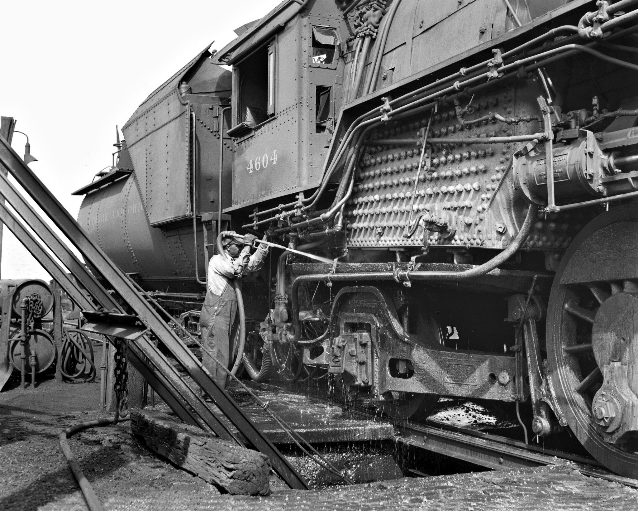 B&O, Dayton, Ohio, 1955 Baltimore and Ohio Railroad steam ...
