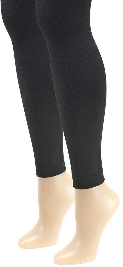 249eac01a2ccb MUK LUKS Women's Fleece-Lined Footless Tights 2-Pair Pack in 2018 ...