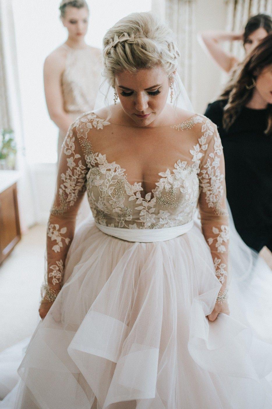 ac4e637118f hayley paige lorelei lorelei gown blush wedding dress ball gown wedding  dream dress