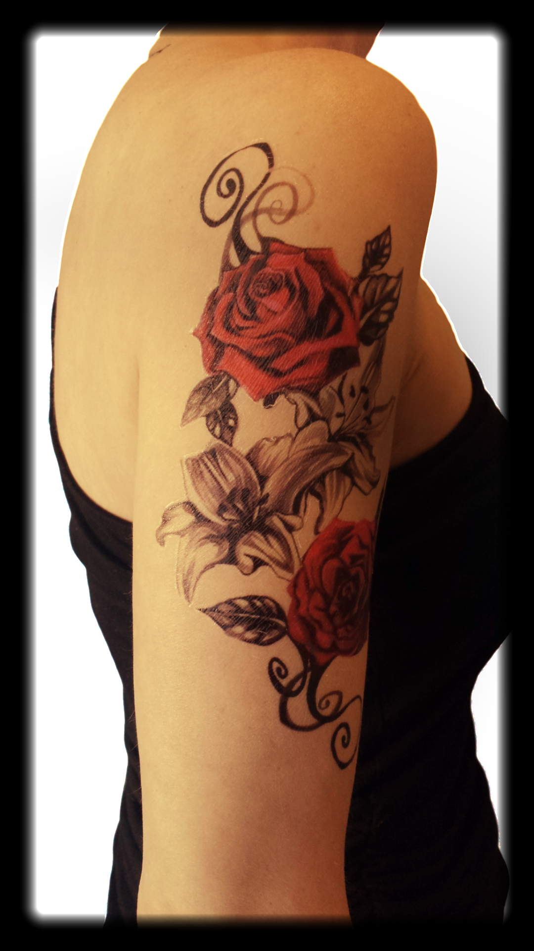 Vintage Rose Temporary Tattoo Half Sleeve Tattoo Full Sleeve Tattoos Lower Back Tattoos