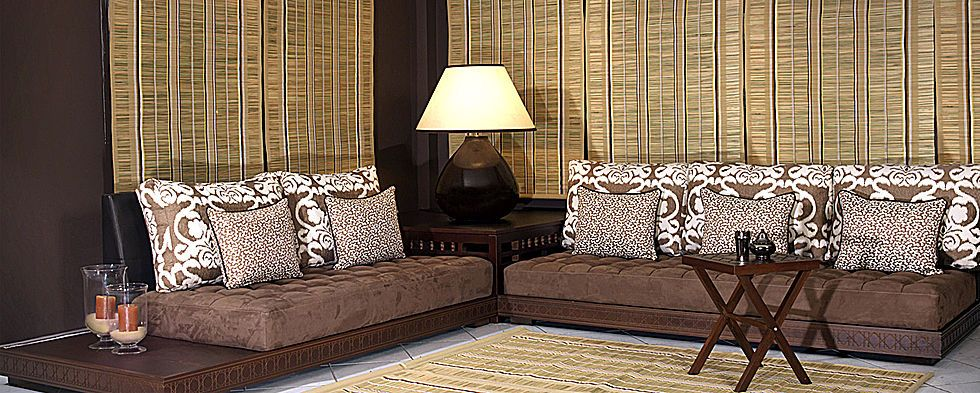 Dakhla bas neyla marron - Decoration salon beige et marron ...