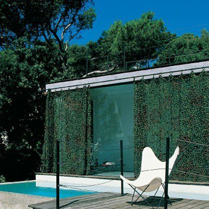 Utiliser des filets de camouflage comme des rideaux | Pergolas ...