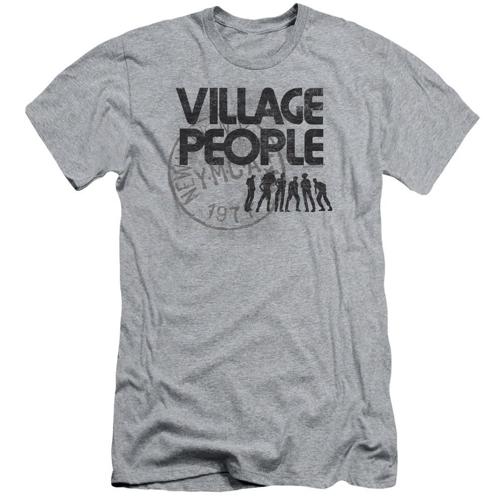 Village People Stamped Athletic Heather Fine Jersey T-Shirt