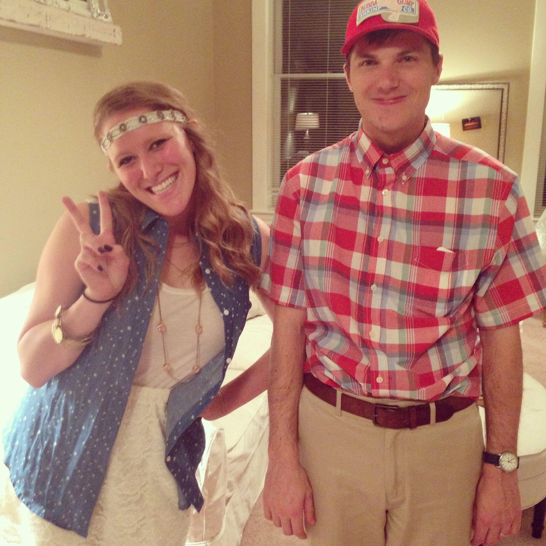 last minute couples' halloween costume idea: forrest gump & jenny