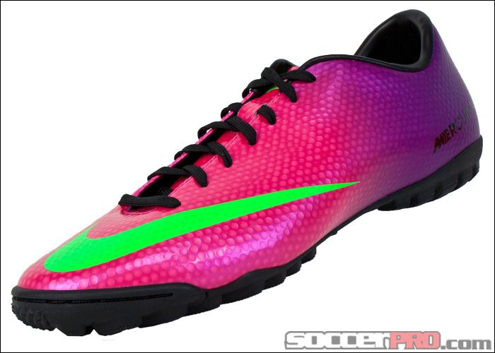 buy online f9da5 266c1 Nike Mercurial Victory IV Turf Soccer Shoes - Fireberry with Green... 62.99