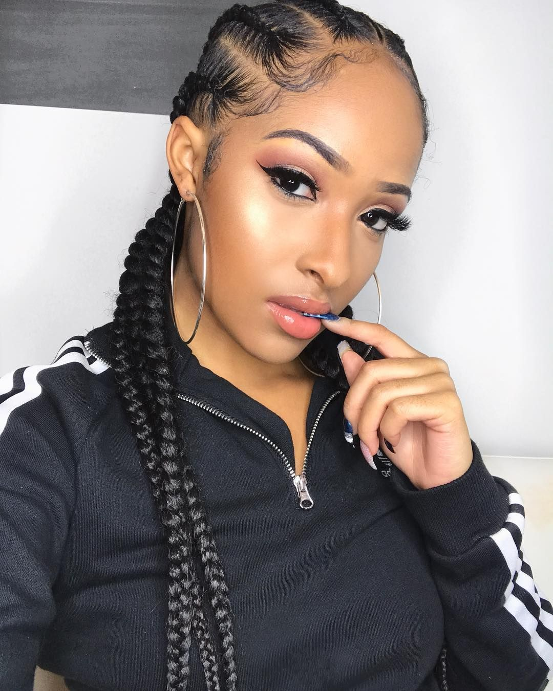 Kennedy Cymone On Instagram Um Yeah Lashes From Kcklashes In The Style Freakum Cornrow Hairstyles Beautiful Skin Tone Hair Styles
