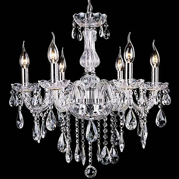 Details About Authentic All Crystal Chandelier Chandeliers