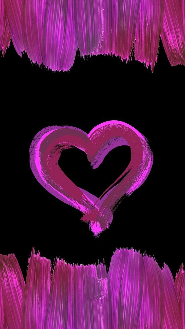 Pin By Lexi Jean On Iphone Wallpaper Heart Wallpaper Painting