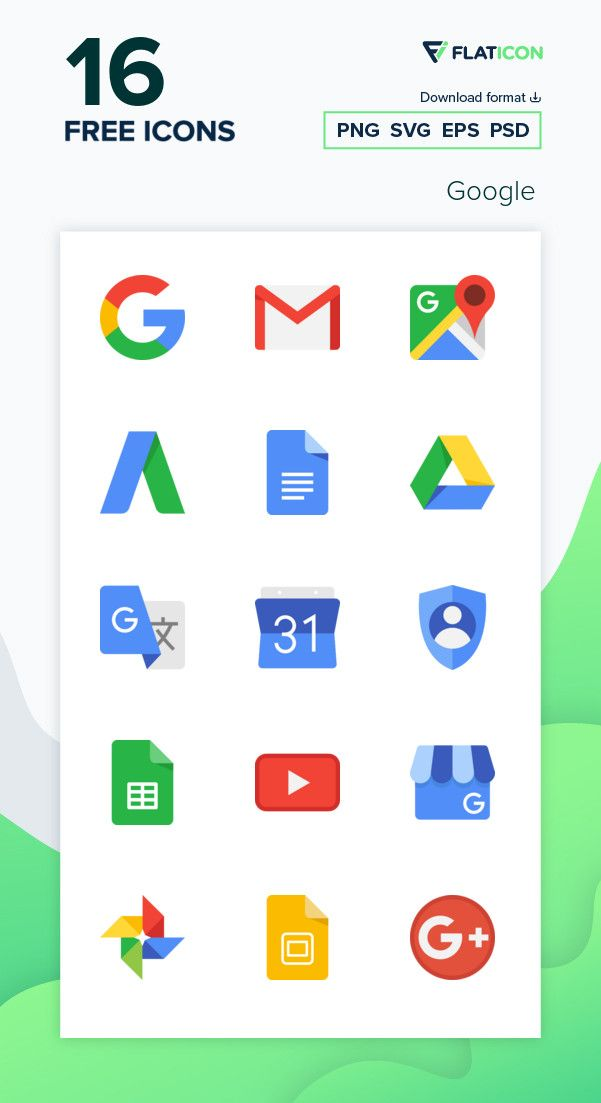 Download 16 free vector icons of Google designed by Freepik in 2020 ...