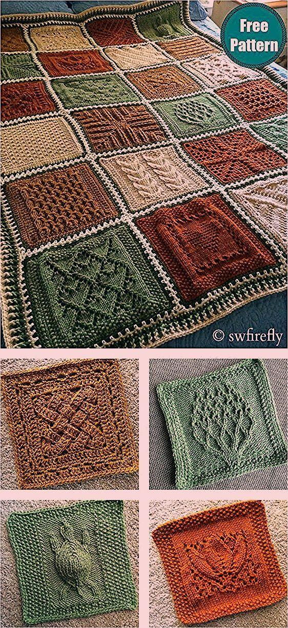 Photo of Dishcloth Sampler Afghan Blanket Kostenloses Strickmuster
