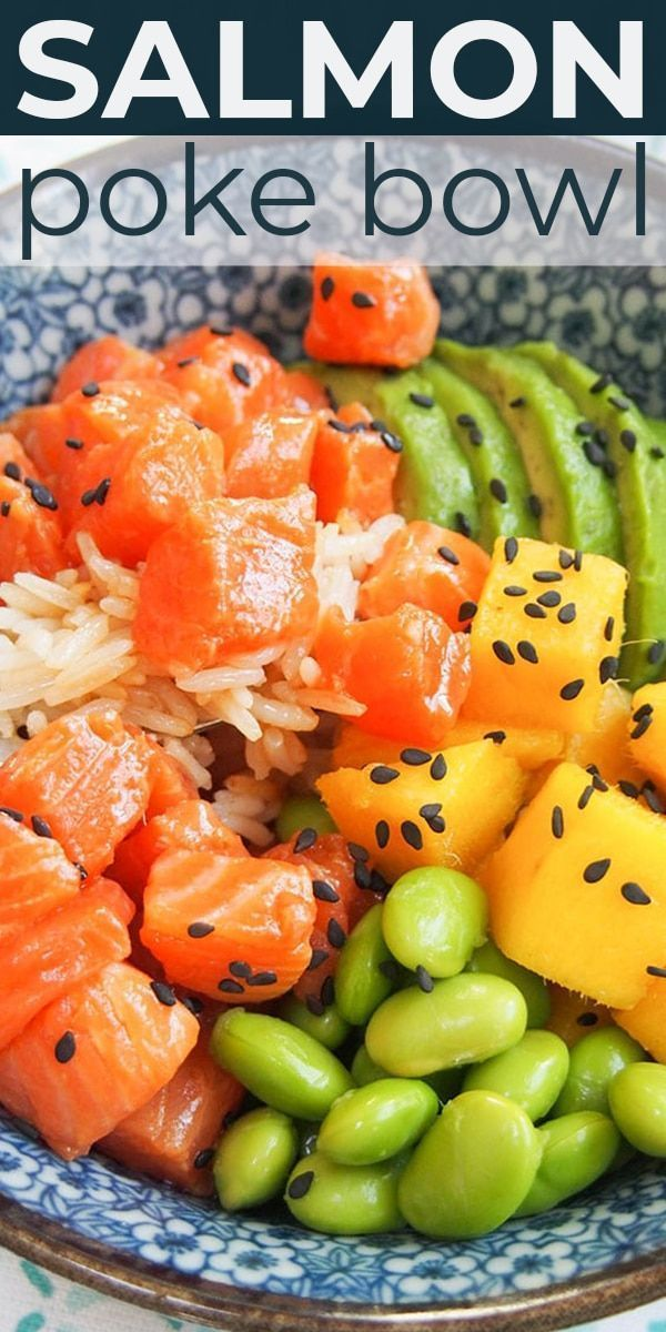 Photo of Salmon Poke Bowl Recipe for Two is light, refreshing, and easy to make with FRES…