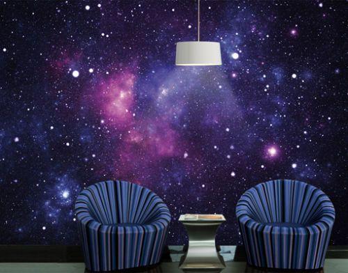Photo Wall Mural Galaxy 400x280 Wallpaper Wall Art Decor Universe Space Violet | eBay