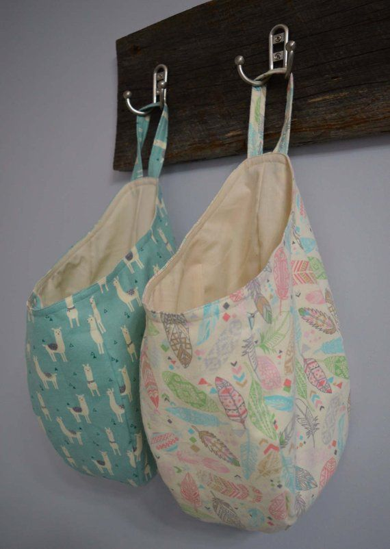 Easy Sew Hanging Storage Pod Basket PDF Pattern #beginnersewingprojects