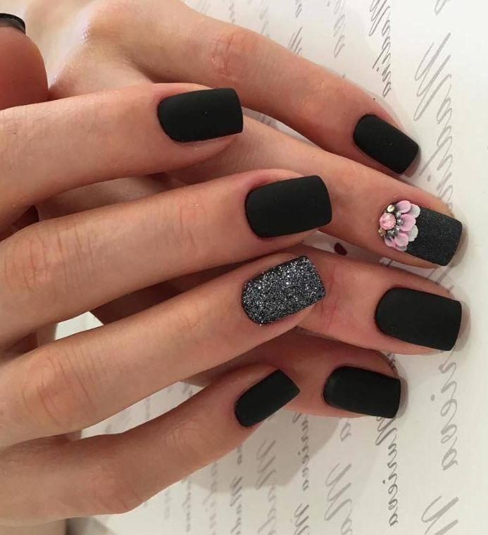 40 Best Shellac Nail Art Design Ideas Ecstasycoffee: 40 Most Trendy And Attractive Night Black Nails Art