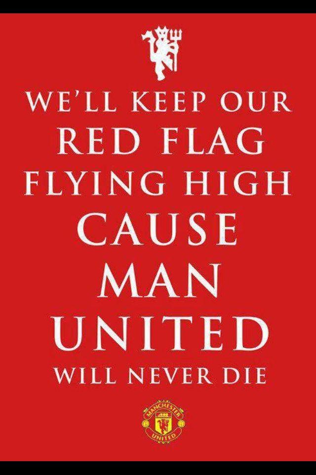 Red Flag Flying Manchester United Wallpaper Manchester United Logo Manchester United Team