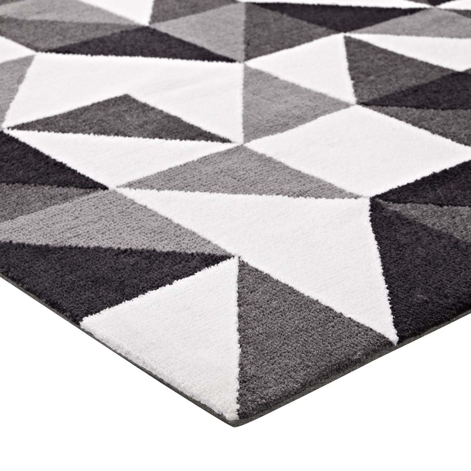 Kahula Gray Black White 8x10 Area Rug In 2020 Area Rugs 8x10