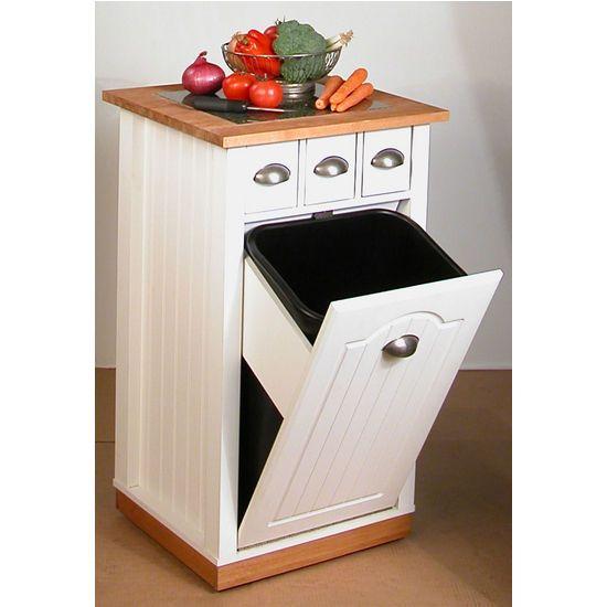 Kitchen Cart With Trash Bin: Kitchen Cart With Tilt Out Trash #kitchensource #pinterest