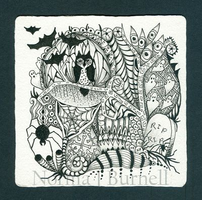 1000+ images about Zentangle. Halloween zentangles and doodles on Pinterest
