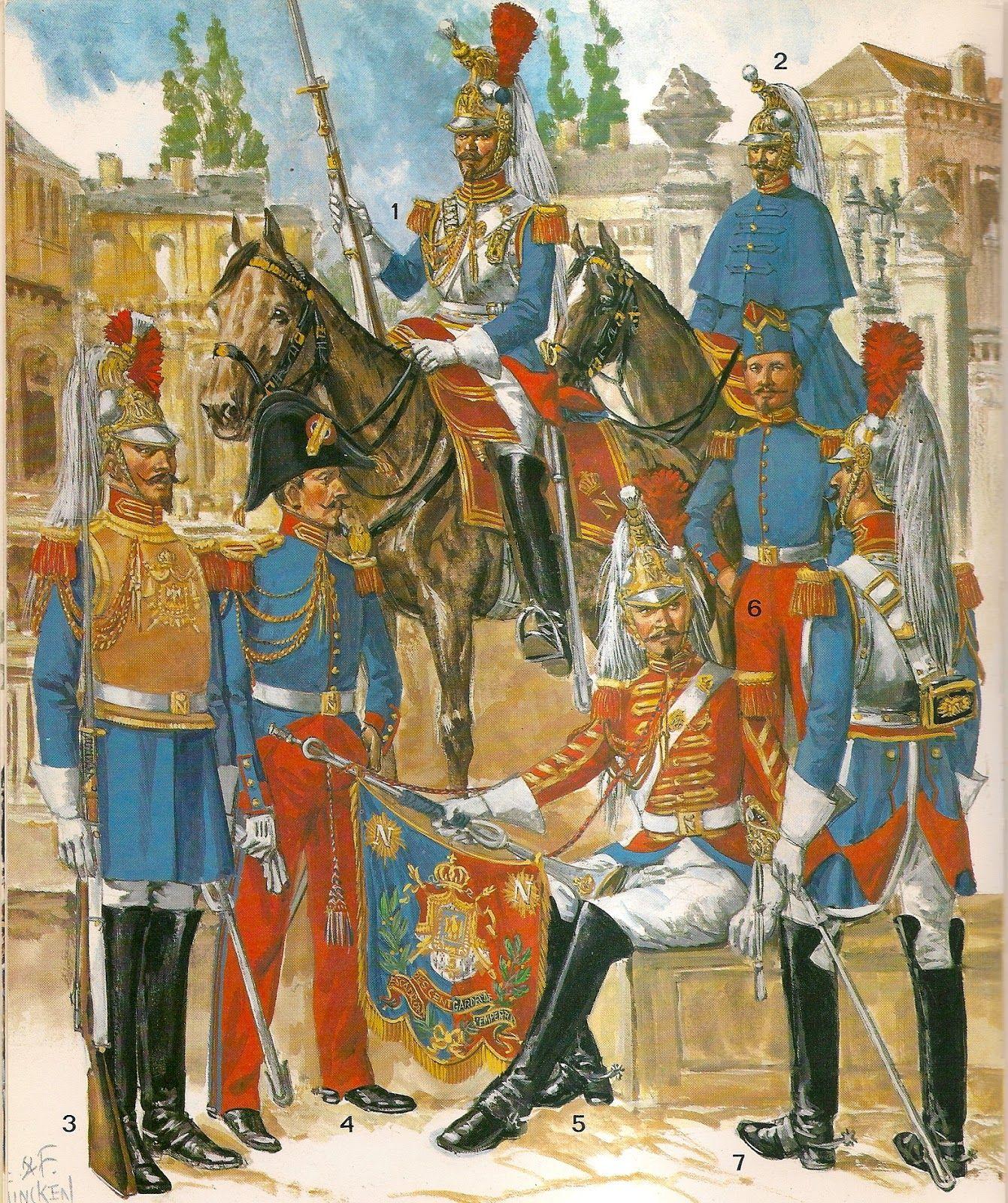 French les cent gardes 1854 1 grande tenue 2 en for Spa uniform france