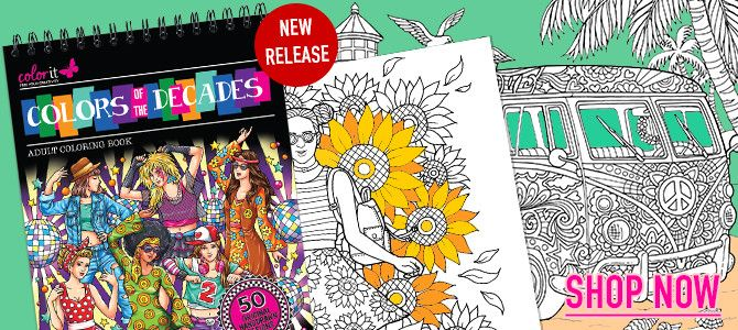 Adult Coloring Books With Hardback Covers Artist Paper By ColorIt