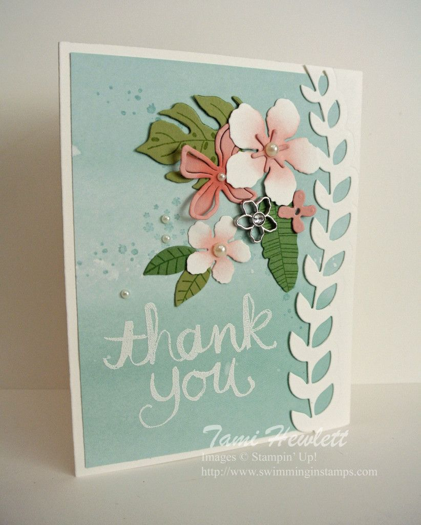 Botanical blooms thank you cards pinterest cards card ideas