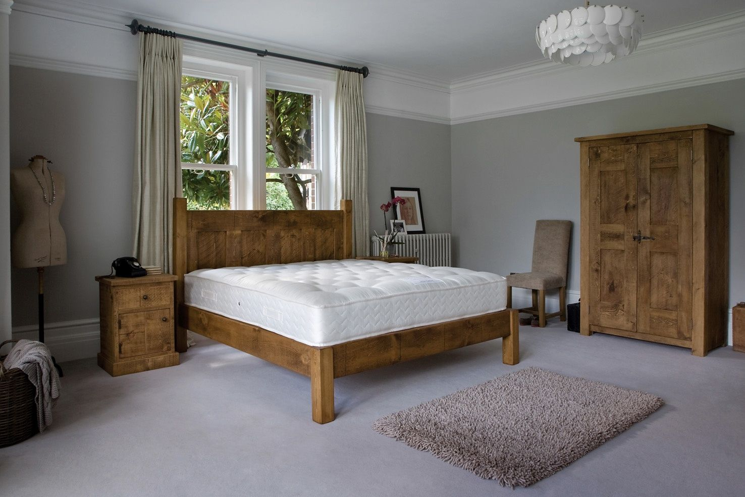 The georgian panel plank bed by indigo furniture homebedroom