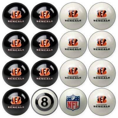 NFL Cincinnati Bengals Home vs. Away Billiard Ball Set  39e492370f5