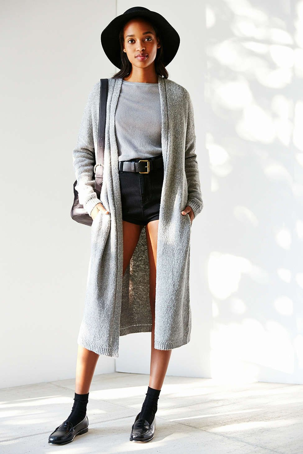 Silence + Noise Open-Front Maxi Cardigan
