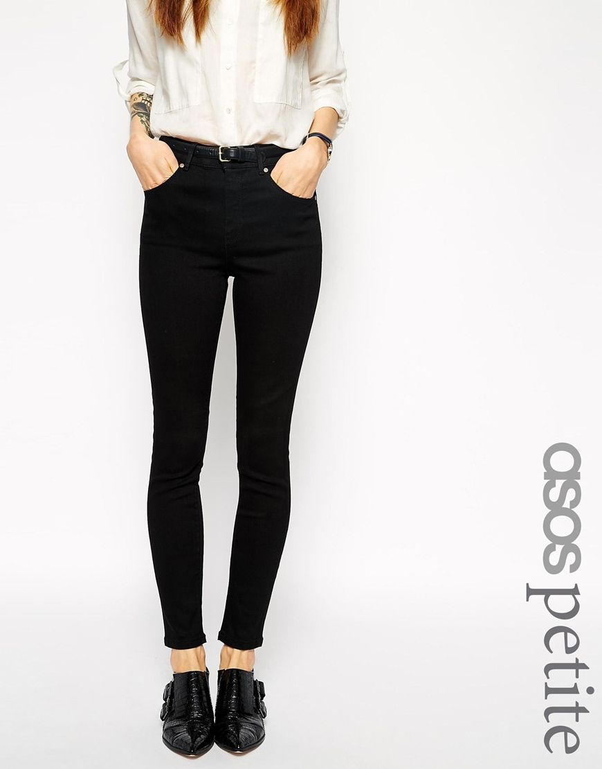 $59 ASOS PETITE Ridley High Waist Ultra Skinny Ankle Grazer Jeans  ...
