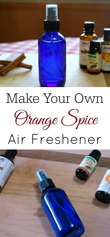 Orange Spice Natural Air Freshener, Essential Oil Blend