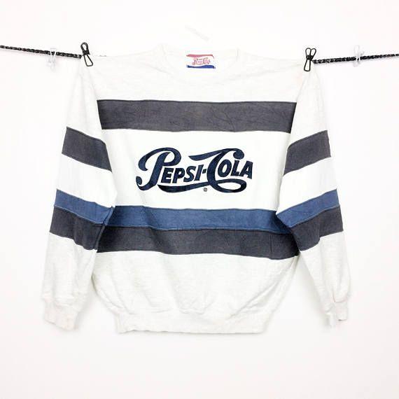 Vintage 90s Pepsi Cola Embroided Logo Crewneck Sweatshirt