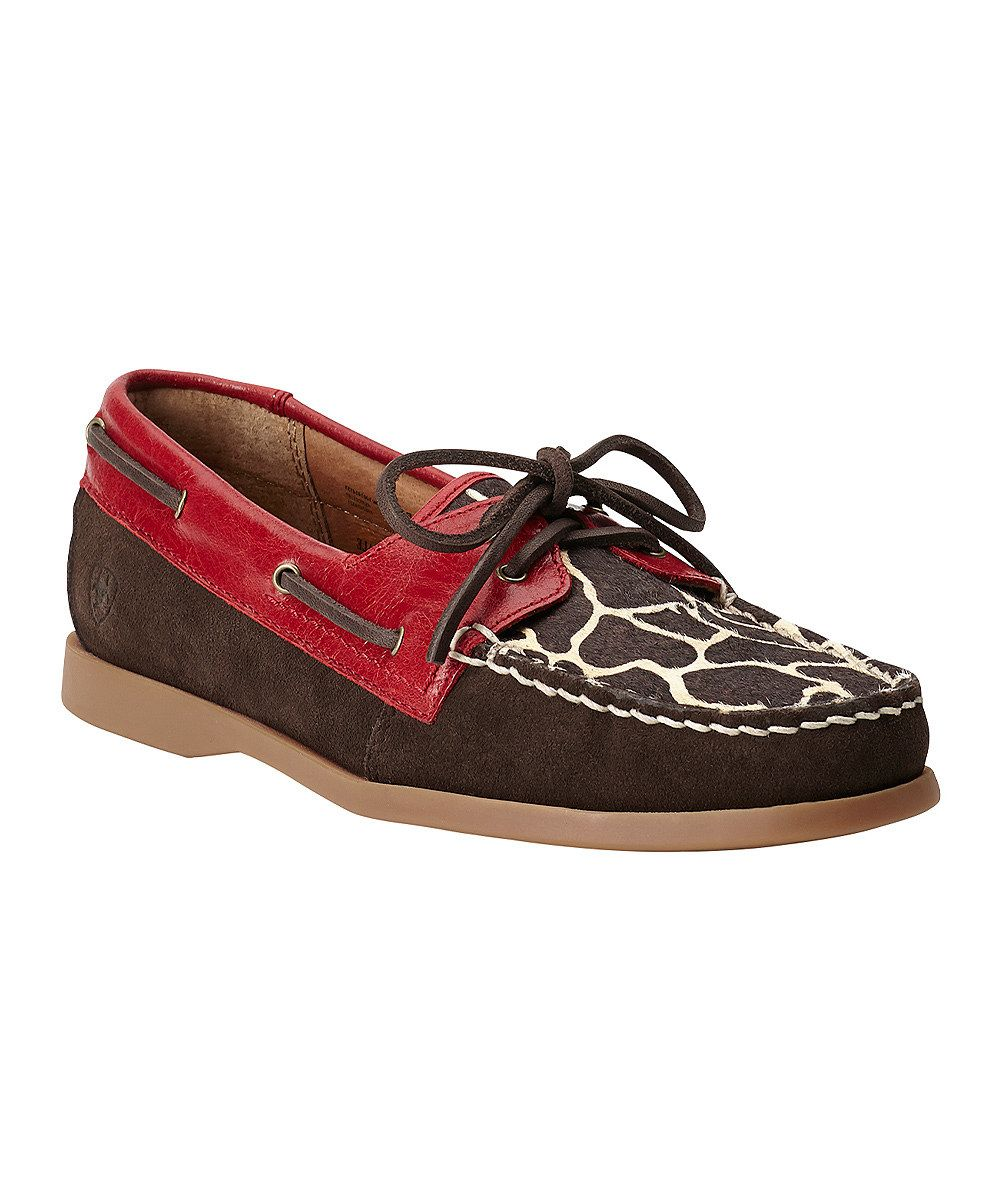 bccdea3ebca0 Ruby   Giraffe Palisade Leather Boat Shoe - Women