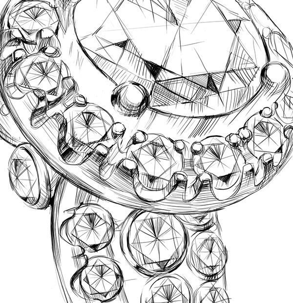 Jewelry illustration on Behance