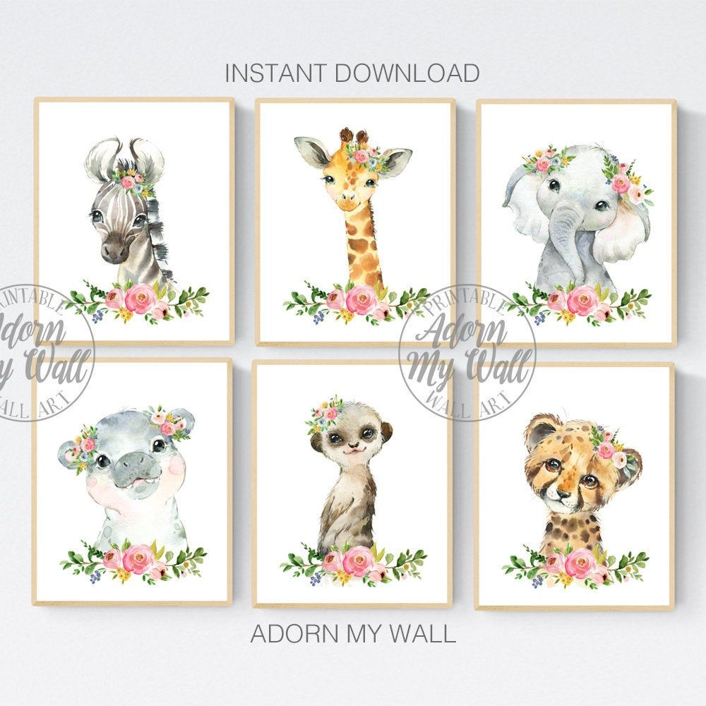 Nursery Decor Safari Animal Prints