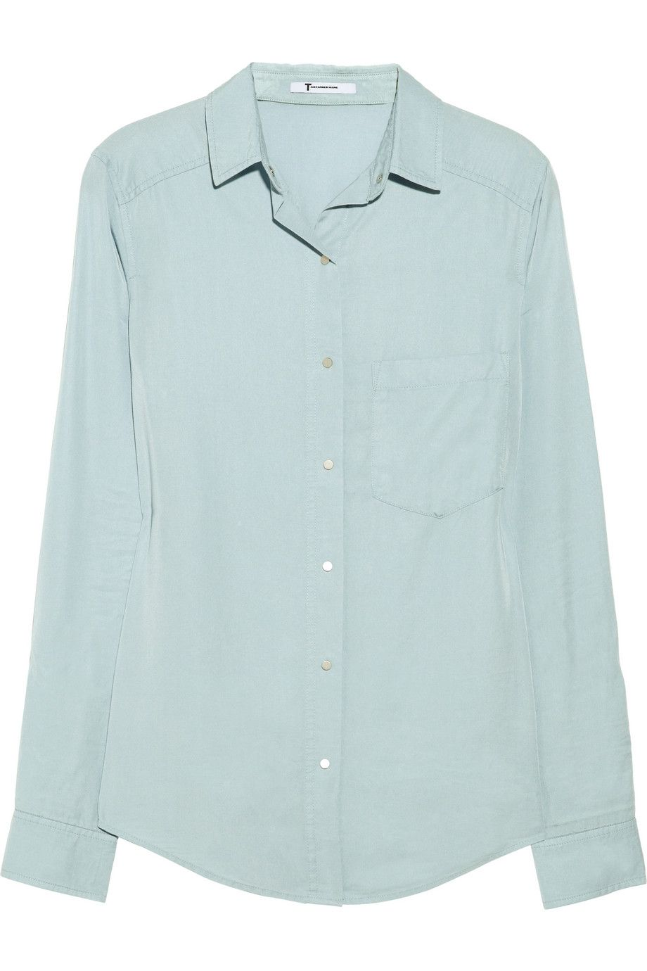 T by Alexander Wang Washed-twill Shirt