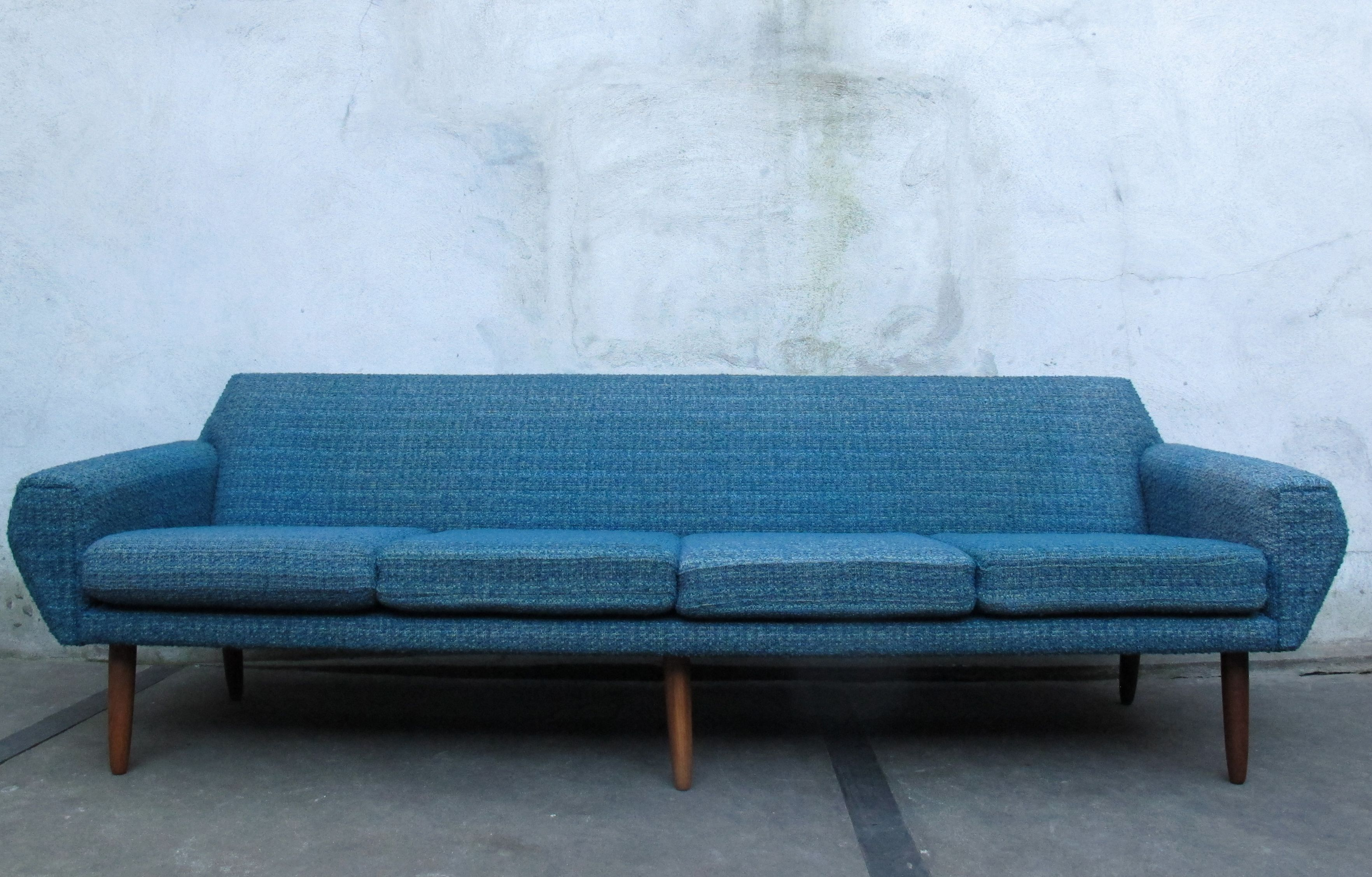 DANISH MODERN TEAK SOFA BY AAGE CHRISTIANSEN FOR ERHARD U0026 ANDERSEN (ERAN):  Designed In The Early To Mid 1960s And Very Similar To ERANu0027s 1963 ADMIRAL  Model.