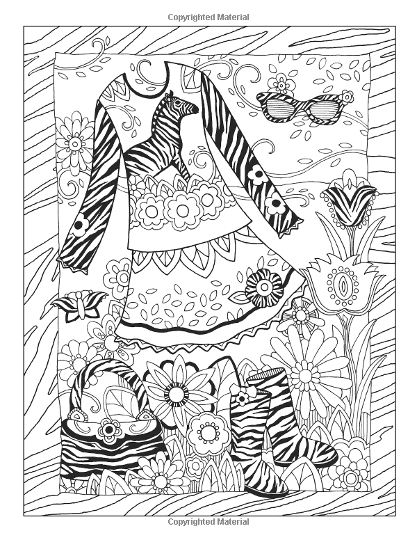 Fanciful Fashions Coloring Book Amazon De Marjorie Sarnat Fr