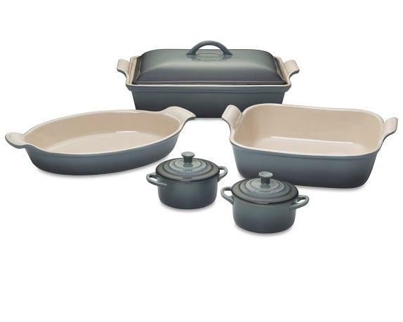 Le Creuset Stoneware 8 Piece Bakeware Set Ocean Le Creuset